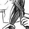"""J'imagine Gédéon déclamer le programme du jour ou râler pendant que Vanej écoute patiemment son supérieur-camarade de chambrée en nattant ses longs cheveux soyeux.   J'aime Vanej, il n'y a pas assez de fanarts de Vanej, je veux un tee-shirt """"I <3 Vanej"""" parce que... Vanej est cool.   Ceci étant dit, j'ai SOUFFERT sur ce dessin (je ne sais pas dessiner des profils, ni des gens assis, ni des gens qui se coiffent.) et je suis triste d'avoir le trait aussi rigide et épais :'("""