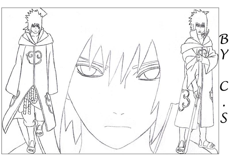 Wallpapers banni res et dessins de uchiwa sasuke page 22 - Coloriage sasuke ...