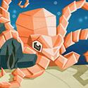 Background pour un projet de jeu mobile sur les origamis.