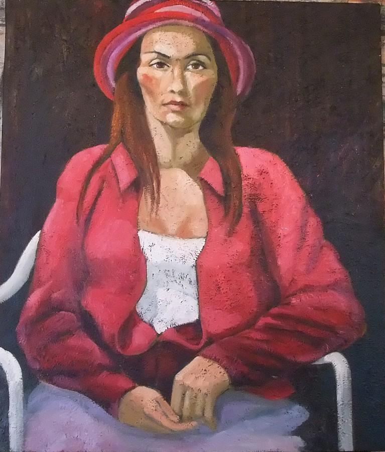 Jeune femme au chapeau passion peinture - Peinture chambre jeune homme ...