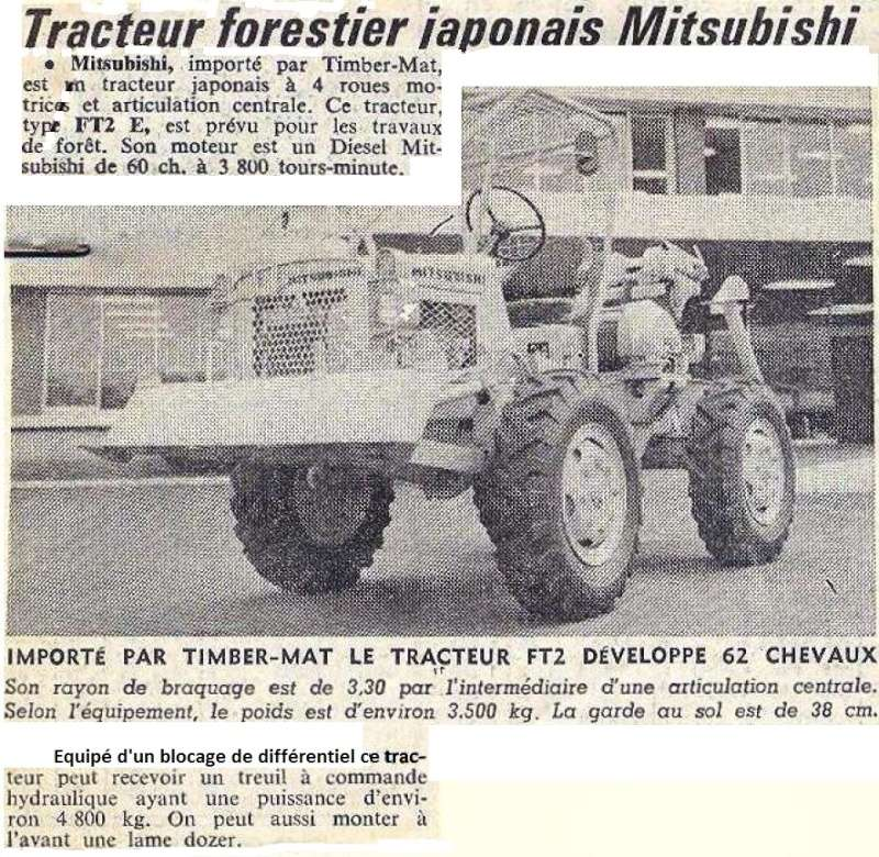 tracteur forestier mitsubishi