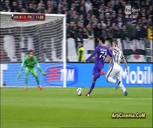 هدف محمد صلاح مباراة فيورنتينا 1-1 يوفنتوس