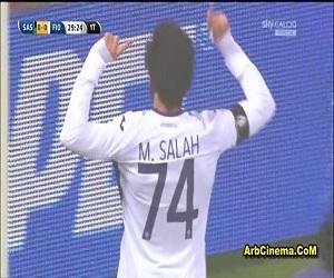 هدف محمد صلاح مباراة فيورنتينا 2-0 ساسولو