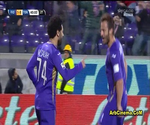 هدف محمد صلاح مباراة فيورنتينا 1-1 تورينو