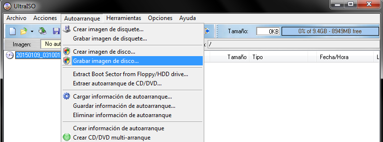 Hacer USB booteable con ISO cualquiera