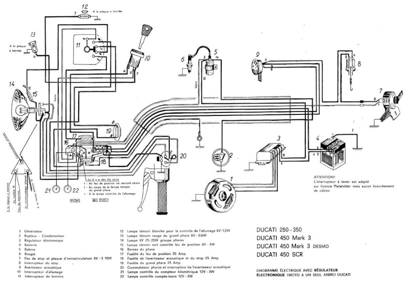 T29043 Circuit De Charge Ducati 350 6 Volt on gm hei distributor wiring diagram