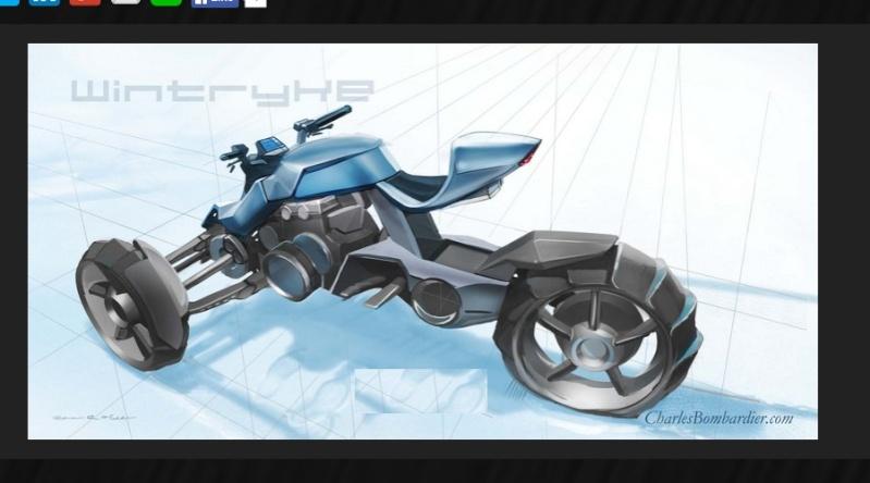 le wintryke est une moto trois roues. Black Bedroom Furniture Sets. Home Design Ideas