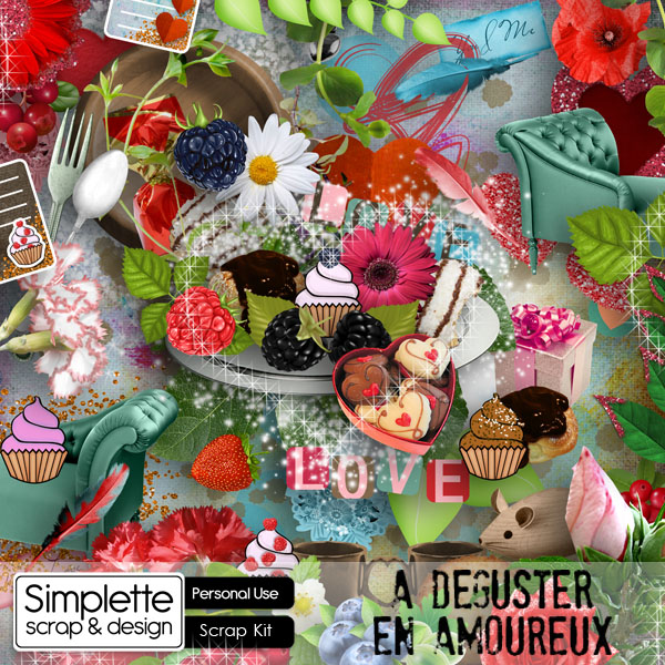 a degister en amoureux saint valentin amour  kit digiscrap simplette scrap design