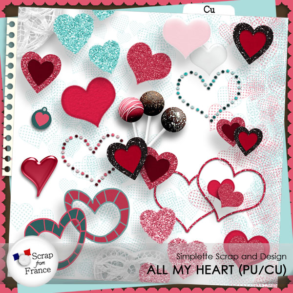 all my heart cu commercial use simplette scrap design boutique scrap from france