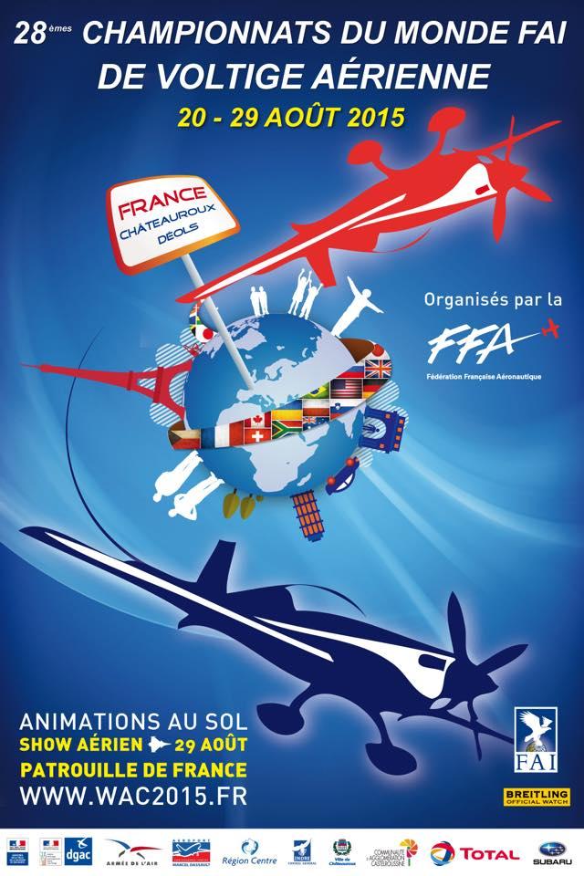 WAC 2015 France, meeting aériens 2015, meeting aeriens 2015,championnats du monde de voltige à Châteauroux-Déols ,voltige aerienne 2015,Châteauroux voltige 2015,worldagilitychampionship.com, Meeting aerien 2015, French Airshow 2015
