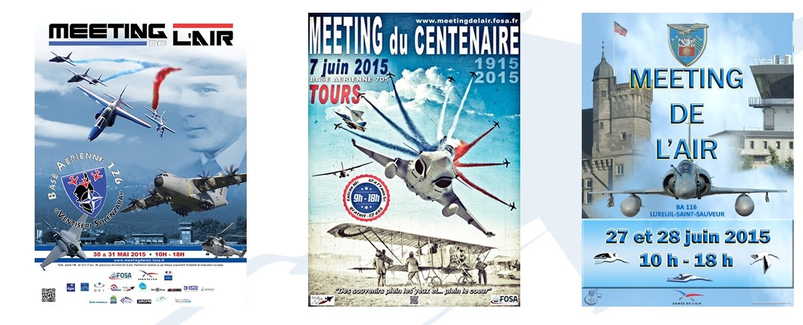 Dates des Meeting Aeriens , Patrouille de France , Ramex Delta, Cartouche doré ,French airshow tv, Spotter day 2015, MNA, ,Ambassadeur Armée de l'air 2015,Canon Photos, FOSA, Manifestation Aeronautique Francais , Meeting AIR , FATV, Spotter day ,AIRSHOW , air show, F.S.A, France Spectacle Aérien,france.spectacle.aerien, shows aériens, Meeting de Ventiseri-Solenzara BA-126 2015, Meeting de Tours BA-705 2015, Meeting de luxeuil BA-116 2015 armée de l'air Spotter day 2015
