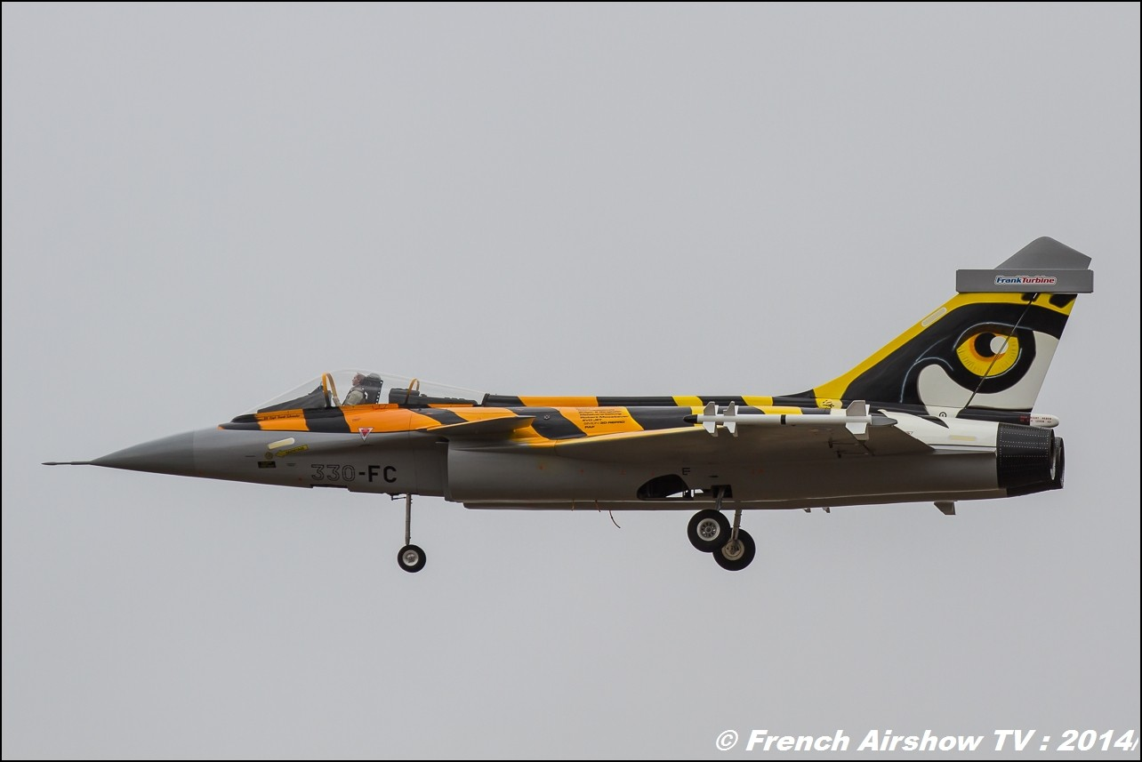 Franck Turbine, Rafale aux couleurs du Tigre RC, AMC Blériot, Meeting Aerien BA-133 Nancy Ochey 2014