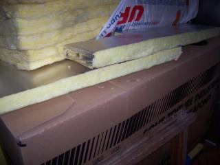 vue de l'isolant pour sous-toiture industrielle