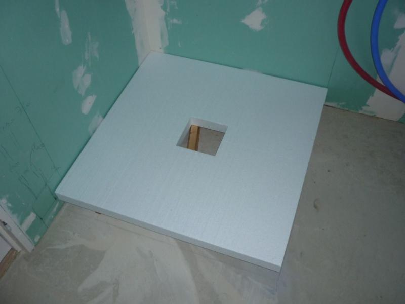 receveur pret à carreler, installer une douche sur plancher bois