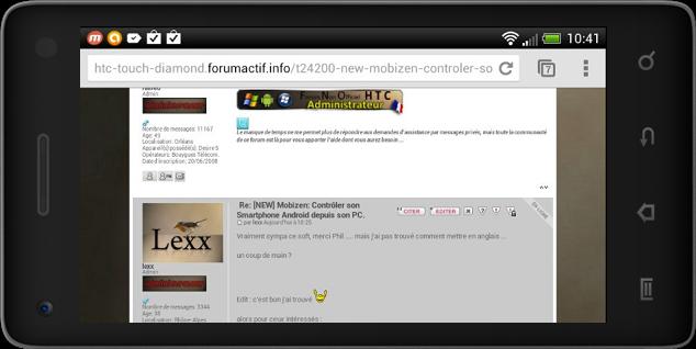 [NEW] Mobizen: Contrôler son Smartphone Android depuis son PC.