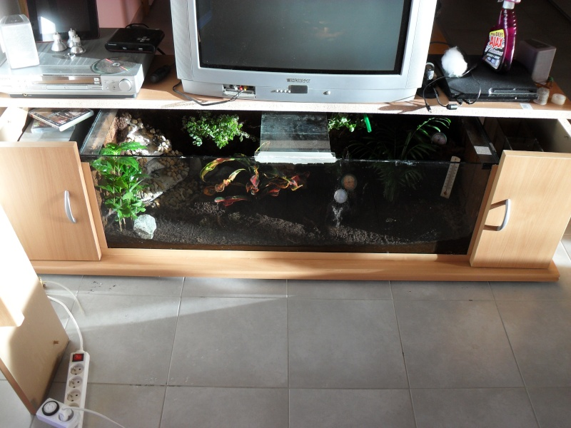 Meuble t l by pogo47 for Aquarium meuble tv