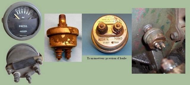 Sonde pression huile jaeger