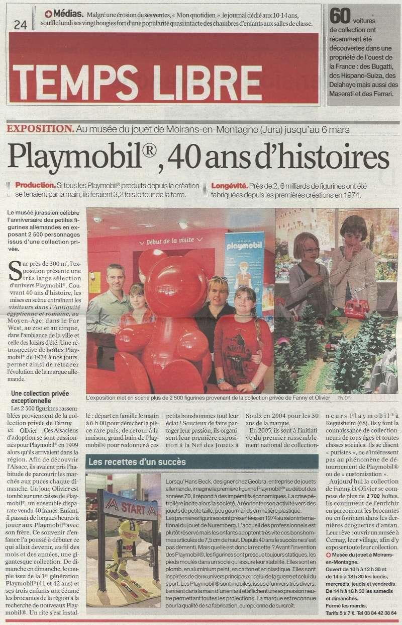journal de la Saone et Loire expo playmobil fanny et olivier