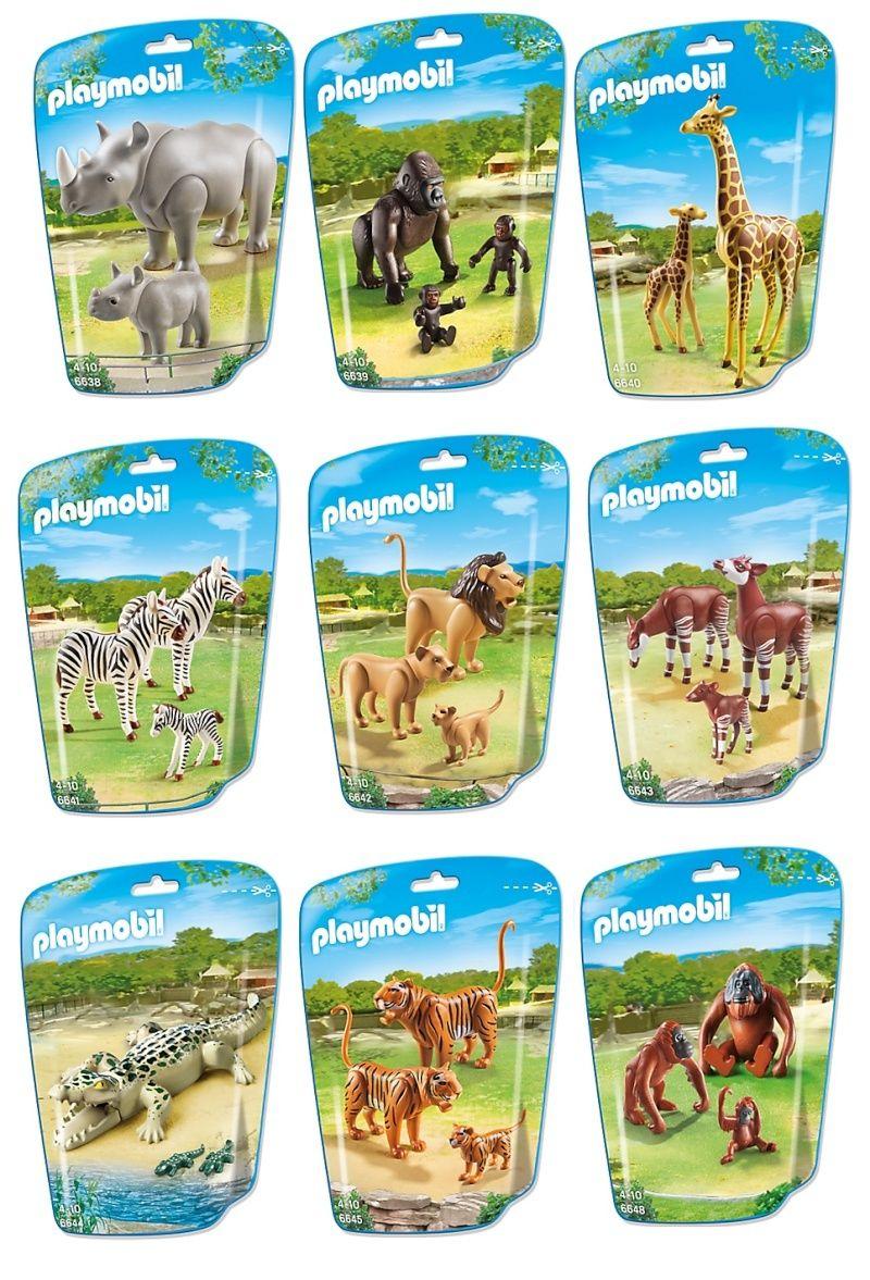 Playmobil gros animaux du zoo 2015 fanny et olivier