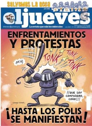 El Jueves - ¡Hasta los polis se manifiestan! [10 Octubre 2012]