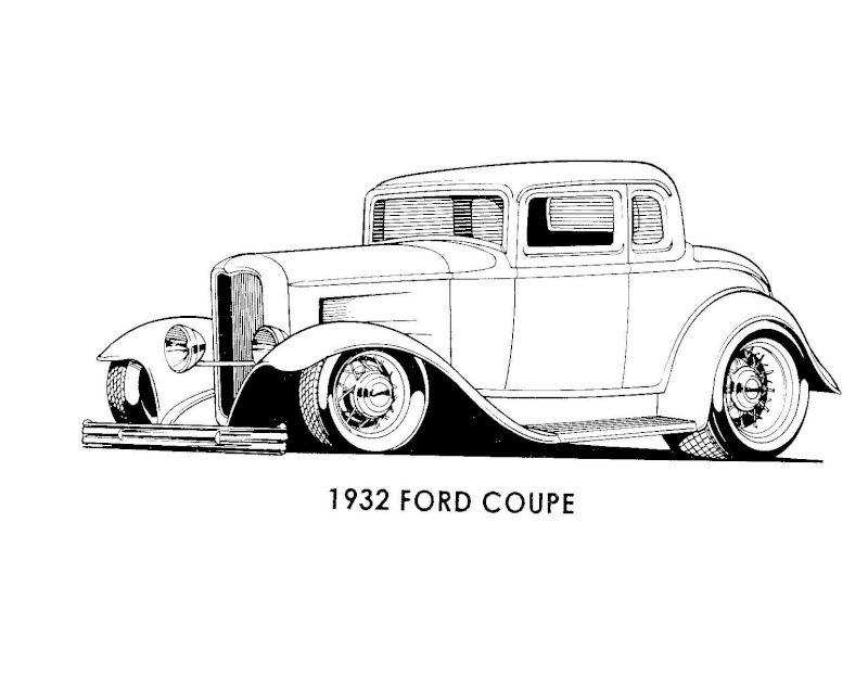 T32998 Dessin D Auto A Colorier on 32 ford 3 window coupe