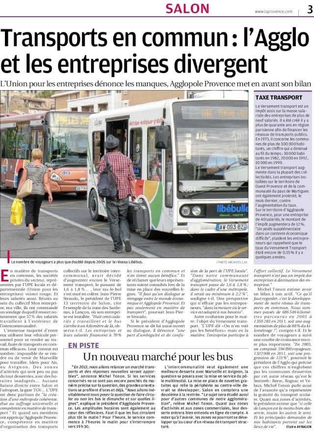 Transport mobilit urbaine afficher le for Horaire leclerc salon de provence