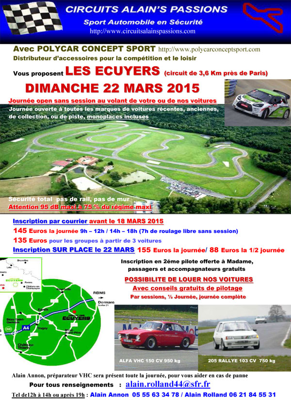 circuit des ecuyers le 22 et le 25 03 2015. Black Bedroom Furniture Sets. Home Design Ideas