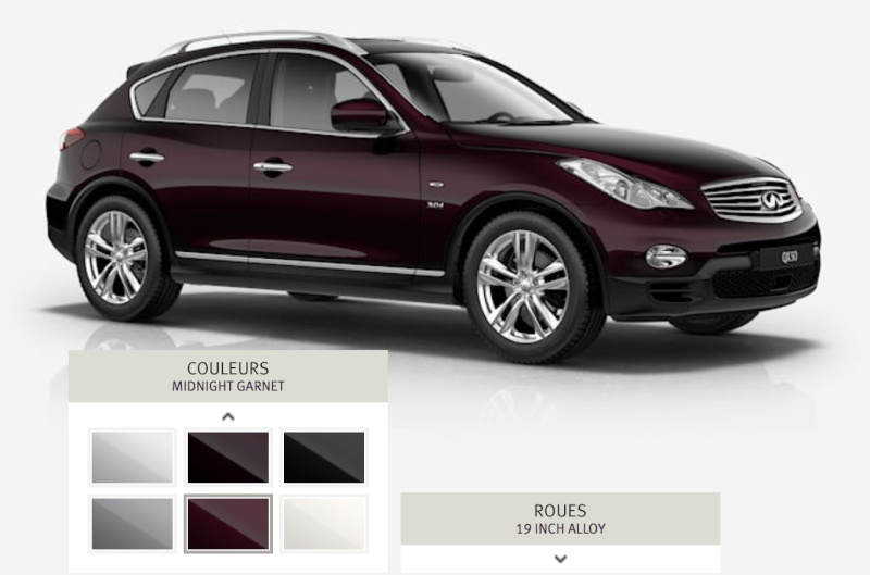 What Is The Color Code Of The Ex35 S Dark Currant Metallic