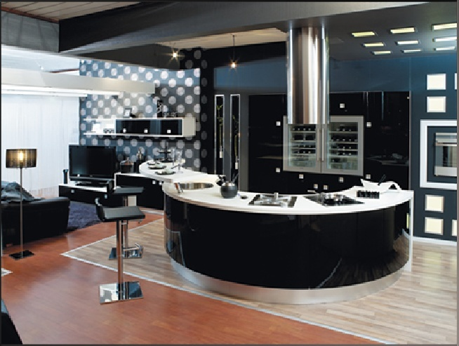 ilot central rond pour cuisine ls65 jornalagora. Black Bedroom Furniture Sets. Home Design Ideas