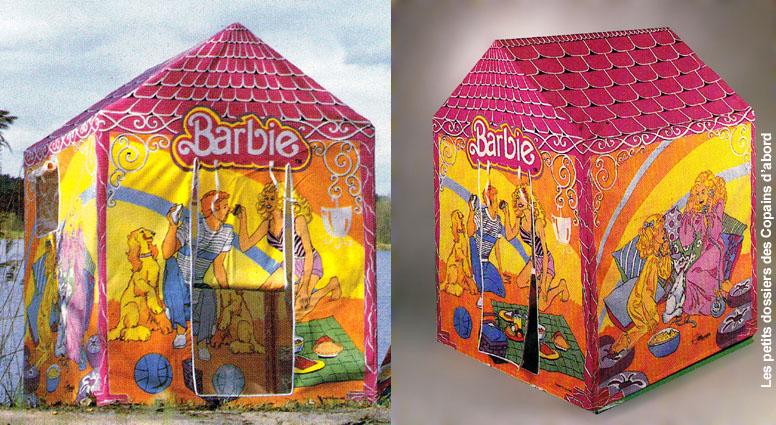 Maison en tissu pour enfant cabane enfant en carton tuto for Barbie chien piscine