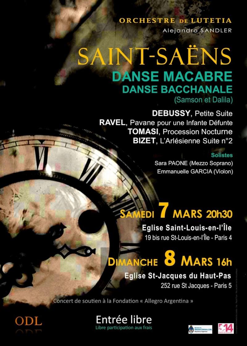 Affiche concerts Orchestre de Lutetia mars 2015