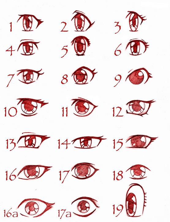 Les yeux manga (féminin)