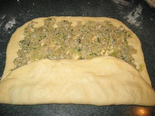 Кулебяка с капустой рецепт с фото пошагово