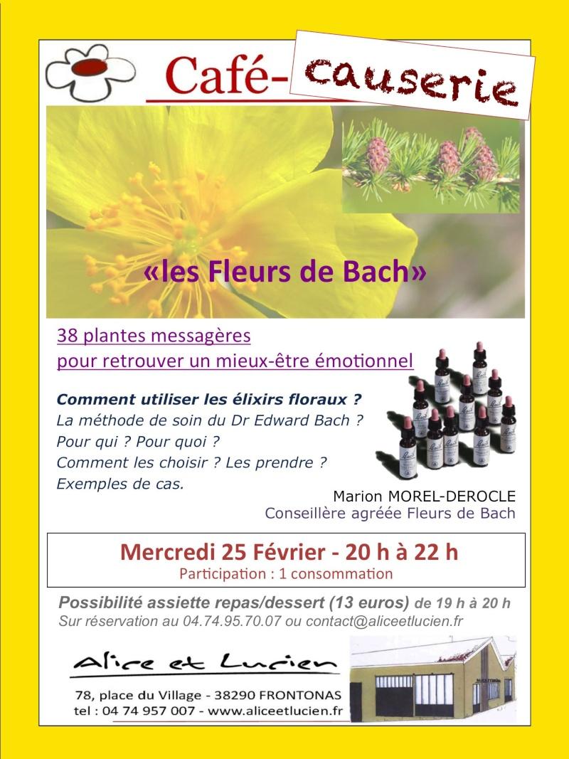 conf rence sur les fleurs de bach au caf causerie d 39 alice et lucien le 25 f vrier. Black Bedroom Furniture Sets. Home Design Ideas