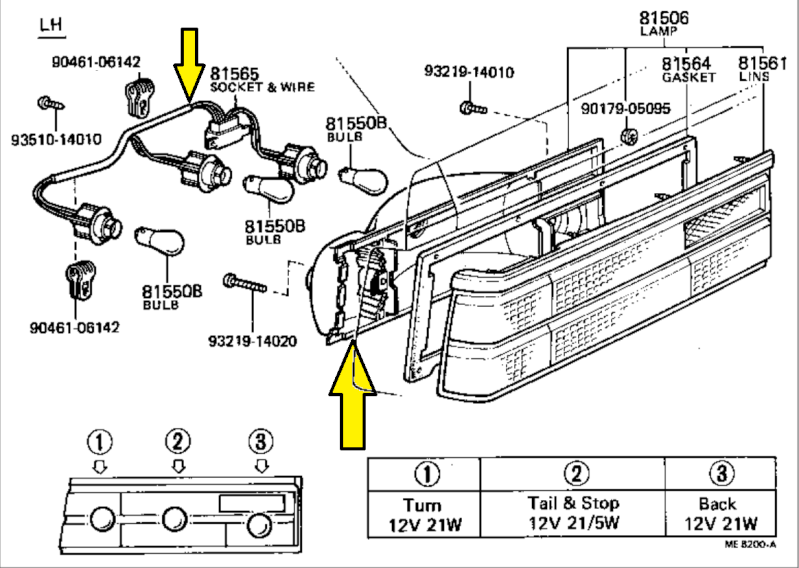 3tcgarage com u2022 view topic wanted corolla e7 coupe taillight parts rh 3tcgarage com Ford Tail Light Wiring Diagram Basic Tail Light Wiring Diagram