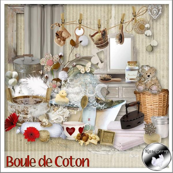 boule de coton kittyscrap joliecoeur scrap. Black Bedroom Furniture Sets. Home Design Ideas
