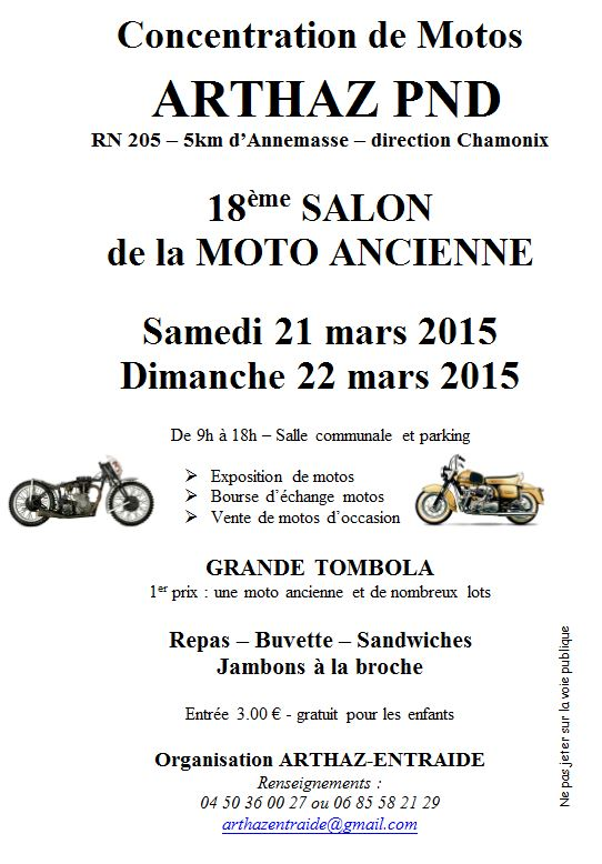 Salon de la moto ancienne arthaz 2015 for Reduction salon de la moto