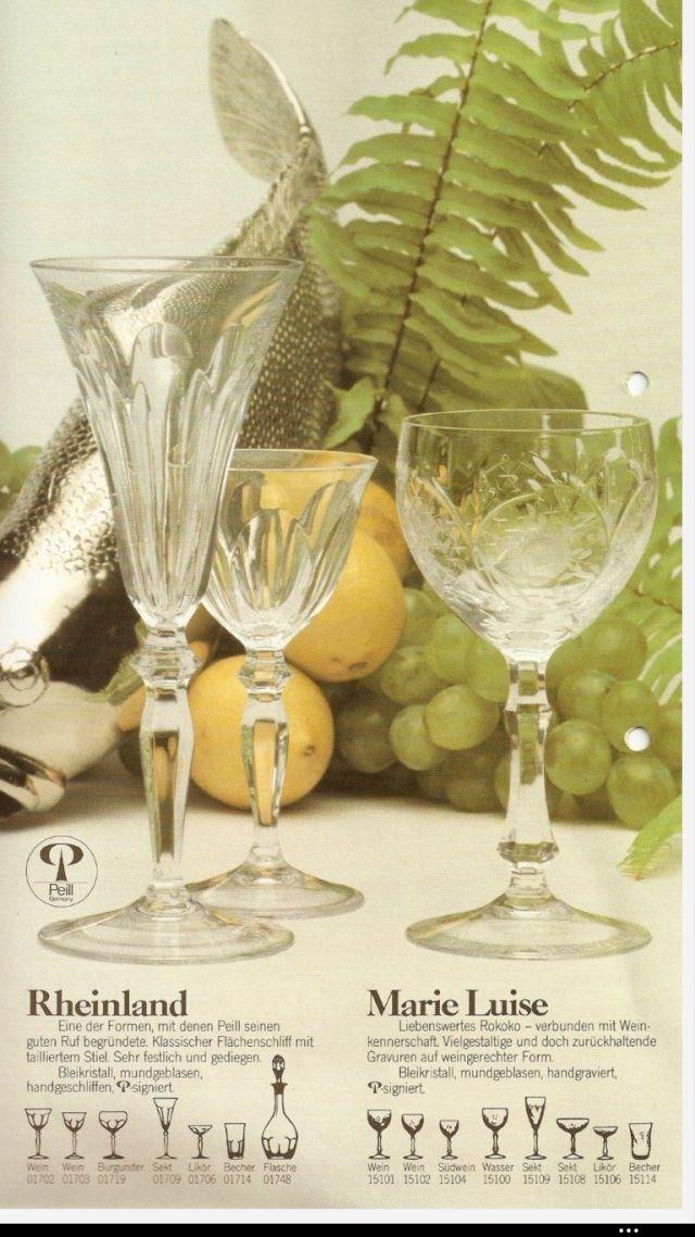 un verre en cristal peill sohn allemagne mod le marie luise. Black Bedroom Furniture Sets. Home Design Ideas