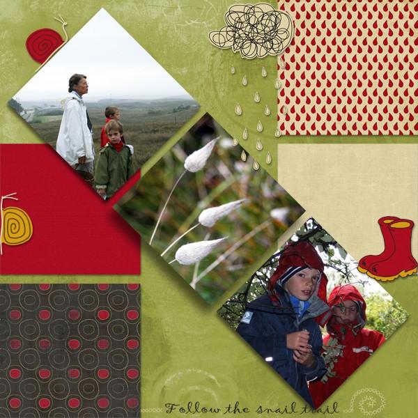 mosaiques template simplette page wiwigeoun After the rain de Scrap de Yas