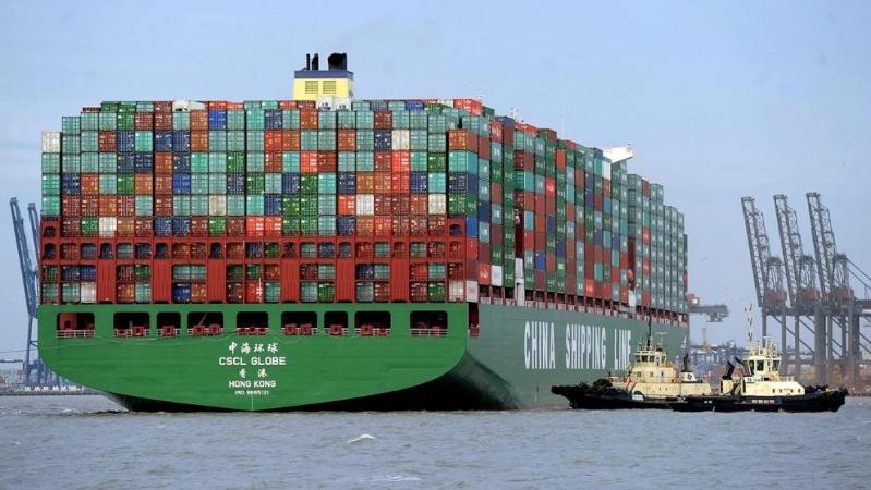 Le plus gros porte container du monde arrive en gb - Le plus gros porte conteneur ...