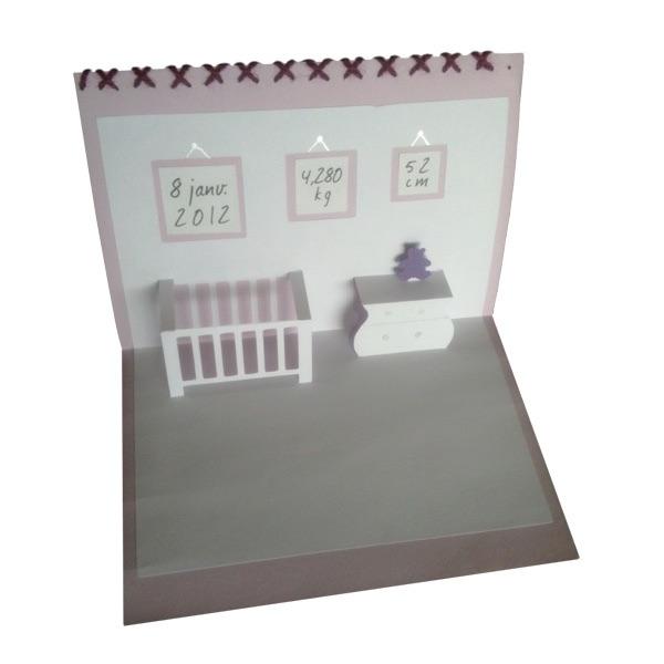faire part de naissance pop up. Black Bedroom Furniture Sets. Home Design Ideas