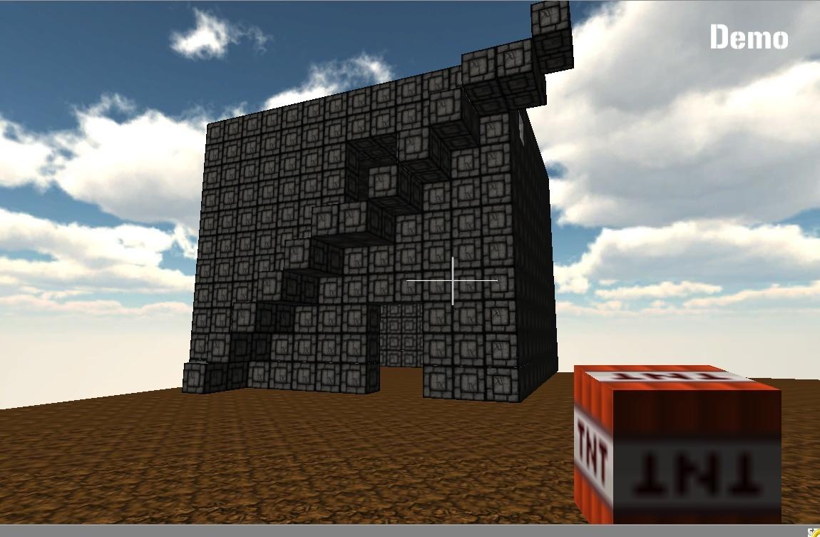صورة من داخل اللعبة WorldOfCube