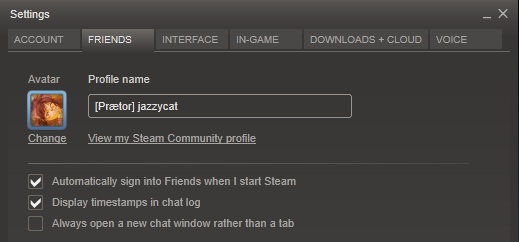 how to change the name that appears in steam games