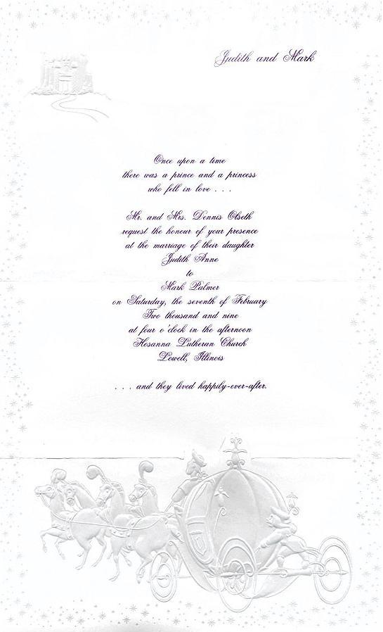 faire part mariage disney texte