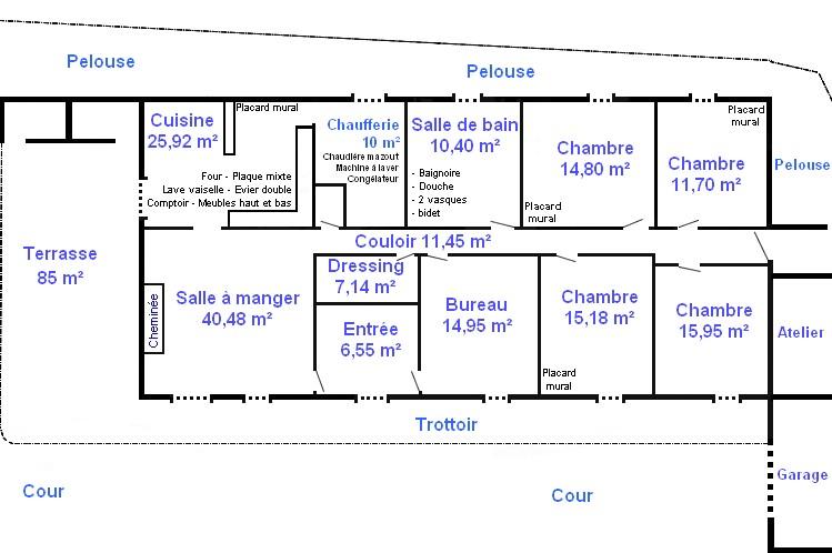 plan de maison charentaise