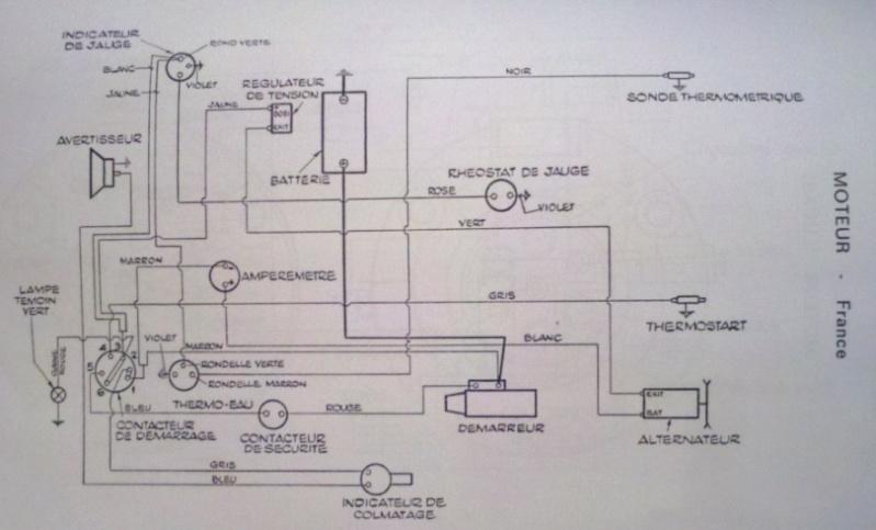 Branchement alternateur MF 158