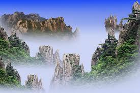 仙景神山-美耀晨彩 Cloudland Kamiyama - America Yao Chen Cai,- 미 선 경 워 성 산 요 아침 채,XianJing ShenShan-красота солнечный утренний чой