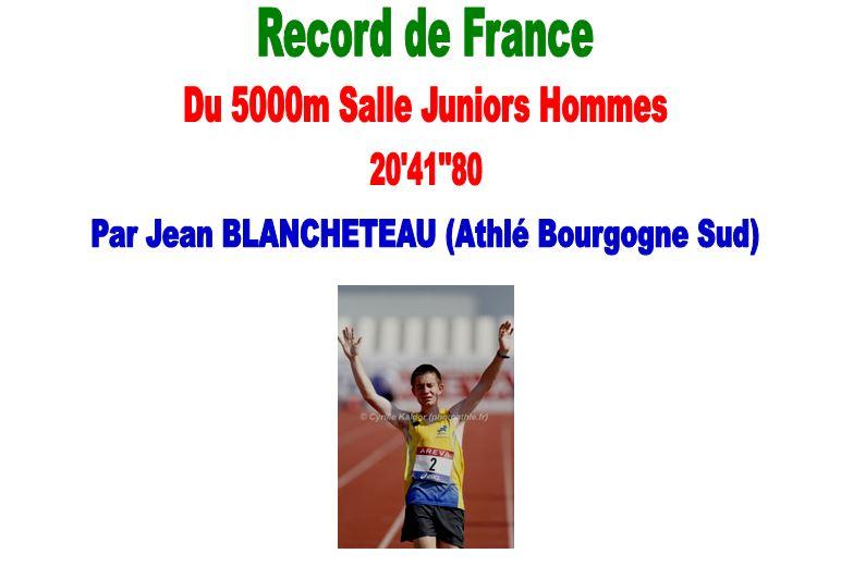 record de france du 5000m salle juniors xemard jacques. Black Bedroom Furniture Sets. Home Design Ideas
