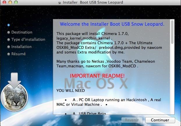 Boot USB Snow Leopard pkg - Hackintosh Tools - osx86 net
