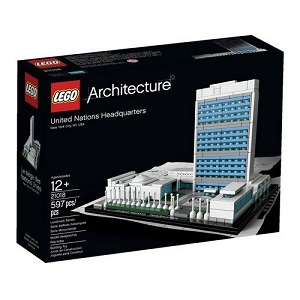 Edificio de la onu new york en lego